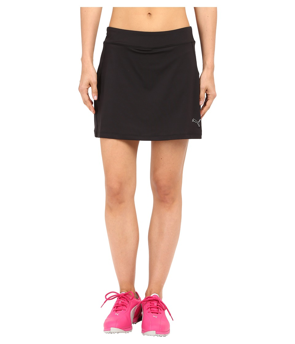 PUMA Golf - Solid Knit Skirt (Black) Women's Skort