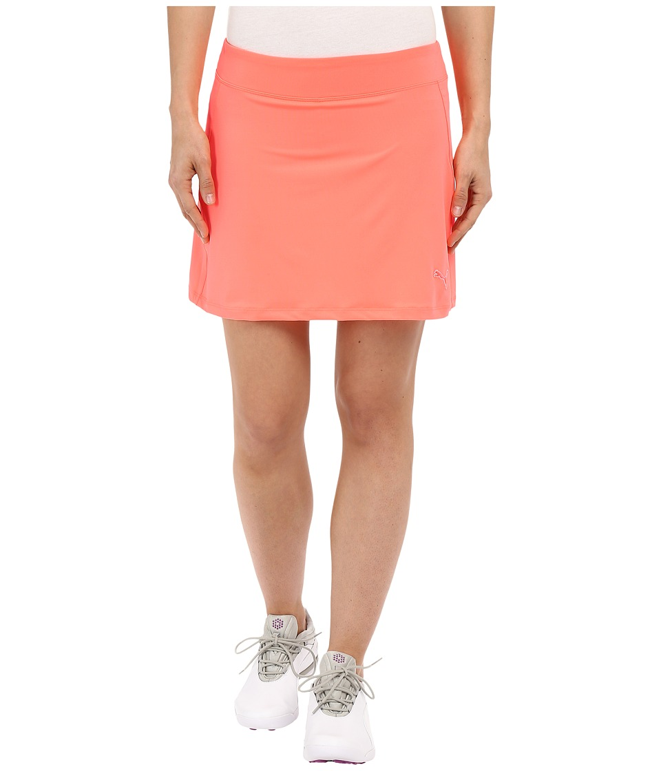 PUMA Golf Solid Knit Skirt (Fluro Peach) Women