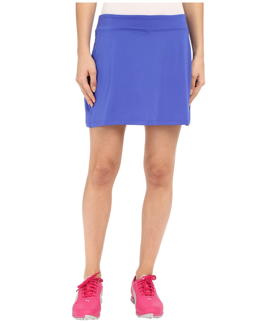 PUMA Golf - Solid Knit Skirt (Dazzling Blue) Women's Skort