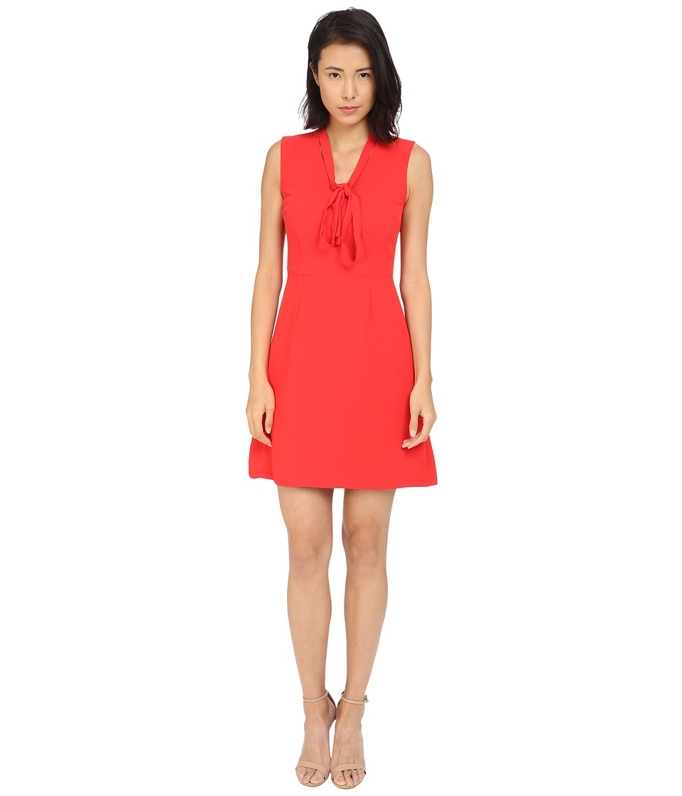 Kate Spade New York - Tie Neck A-Line Dress (Fairytale Red) Women's Dress