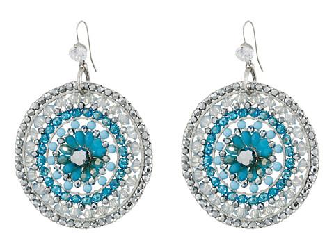 Gypsy SOULE - CRE54 Earrings (Silver/Turquoise) Earring