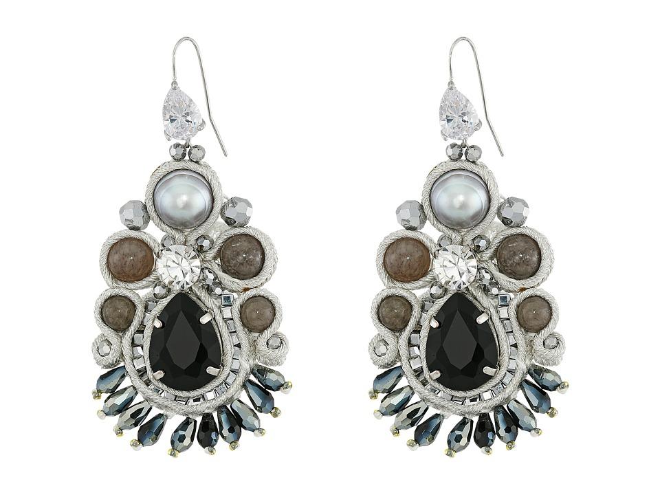 Gypsy SOULE - CRE57 (Black/Grey/Pearl) Earring