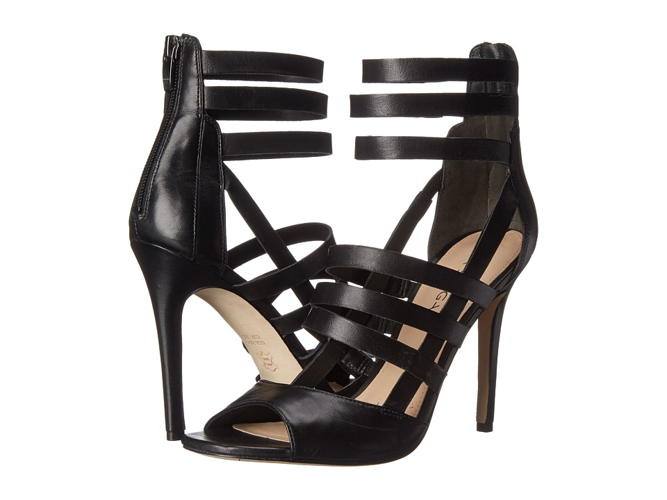 Via Spiga Tavi (Black Leather) High Heels