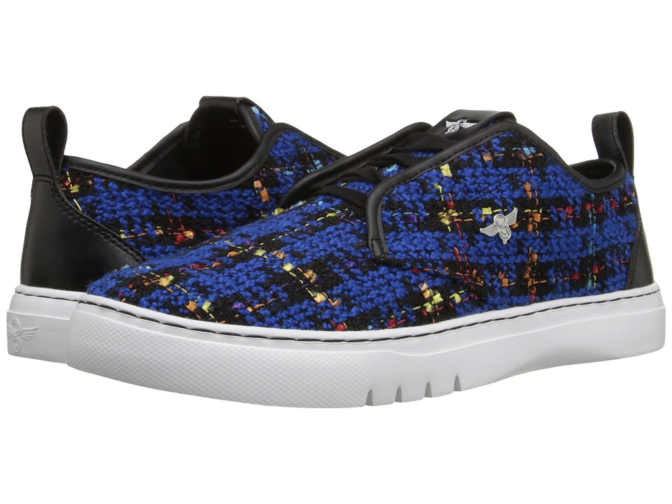 Creative Recreation - Lacava Q (Black/Blue Jacquard Plaid) Men's Lace up casual Shoes
