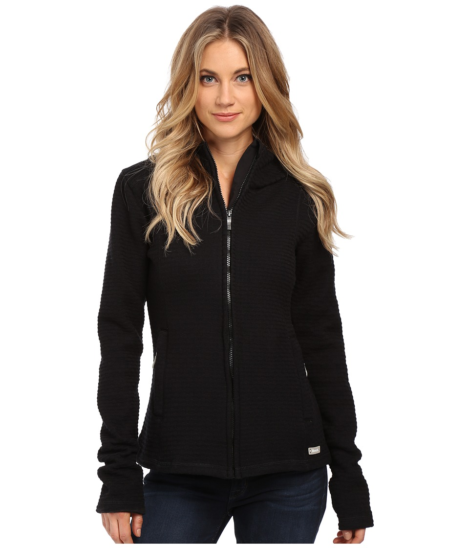 Bench - Dearby 11 Short Slim Hoodie (Jet Black) Women's Sweatshirt
