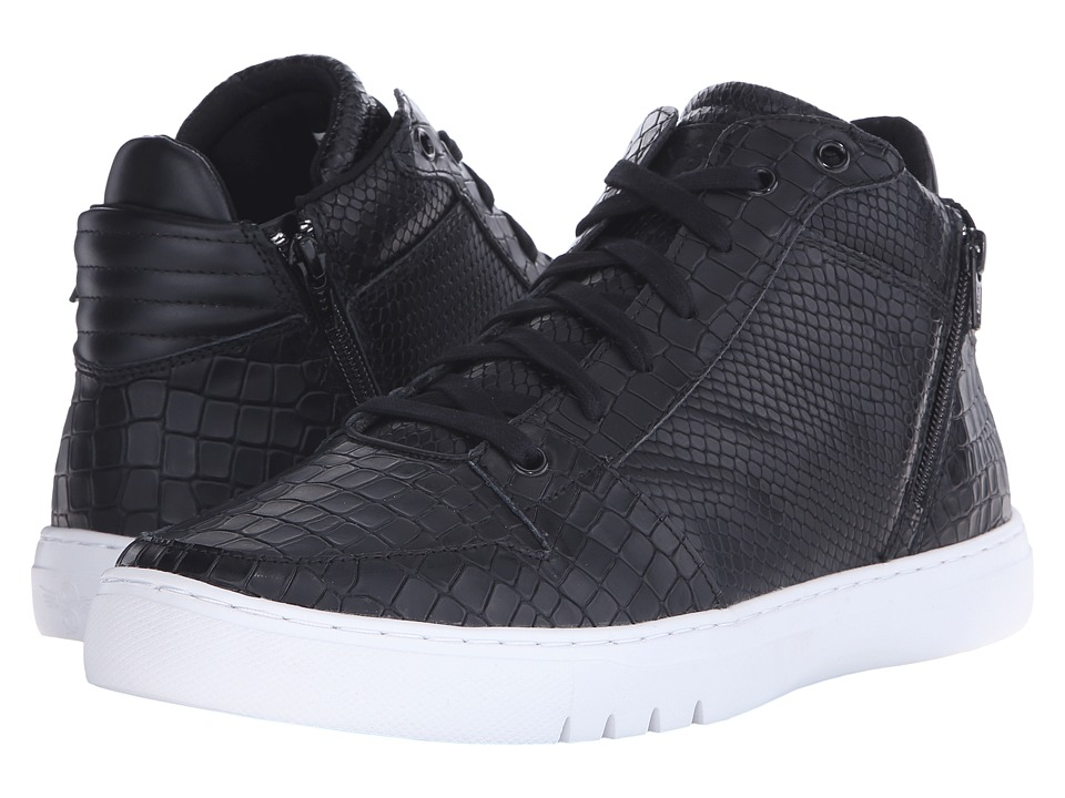Creative Recreation - Adonis Mid (Black Croc Snake) Men's Lace up casual Shoes