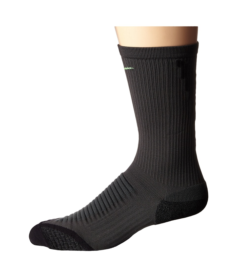 Nike Golf - Elite Cushion Crew (Anthracite/Black/Voltage Green) Men's Crew Cut Socks Shoes