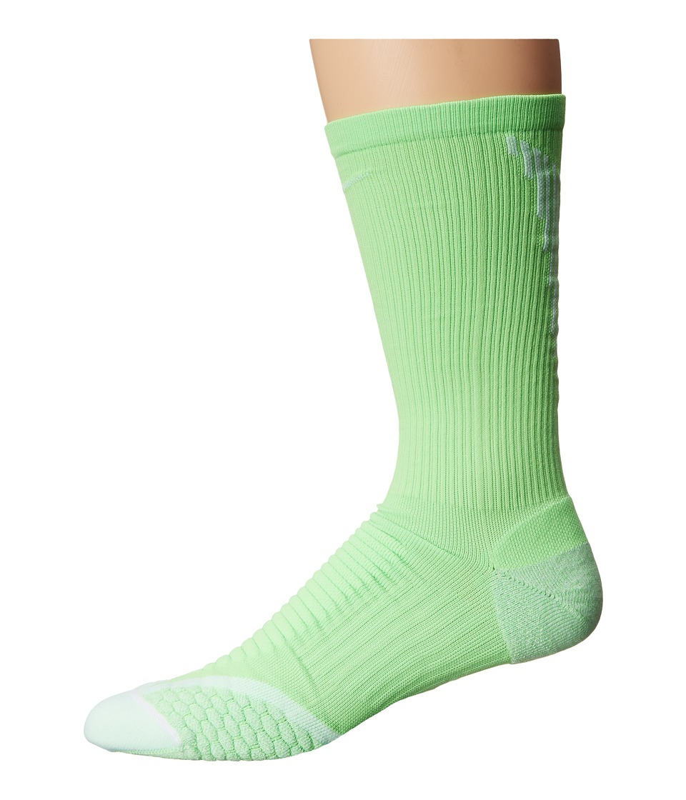 Nike - Elite Cushion Crew (Voltage Green/White/White) Men's Crew Cut Socks Shoes