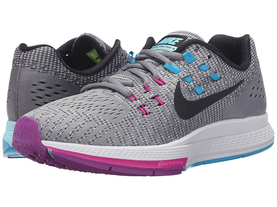 Nike - Air Zoom Structure 19 (Cool Grey/Fuchsia Flash/Copa/Black) Women's Running Shoes