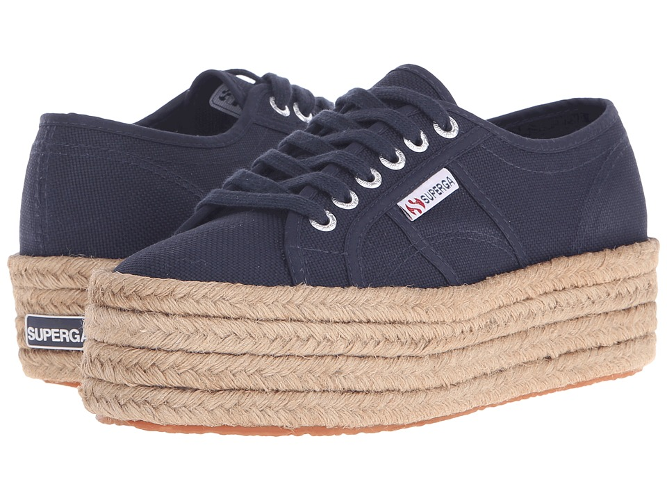 Superga - 2790 Cotropew (Navy) Women's Lace up casual Shoes