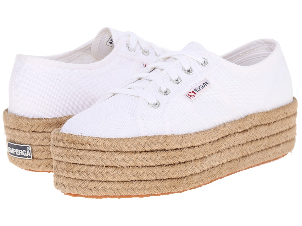 Superga - 2790 Cotropew (White) Women's Lace up casual Shoes