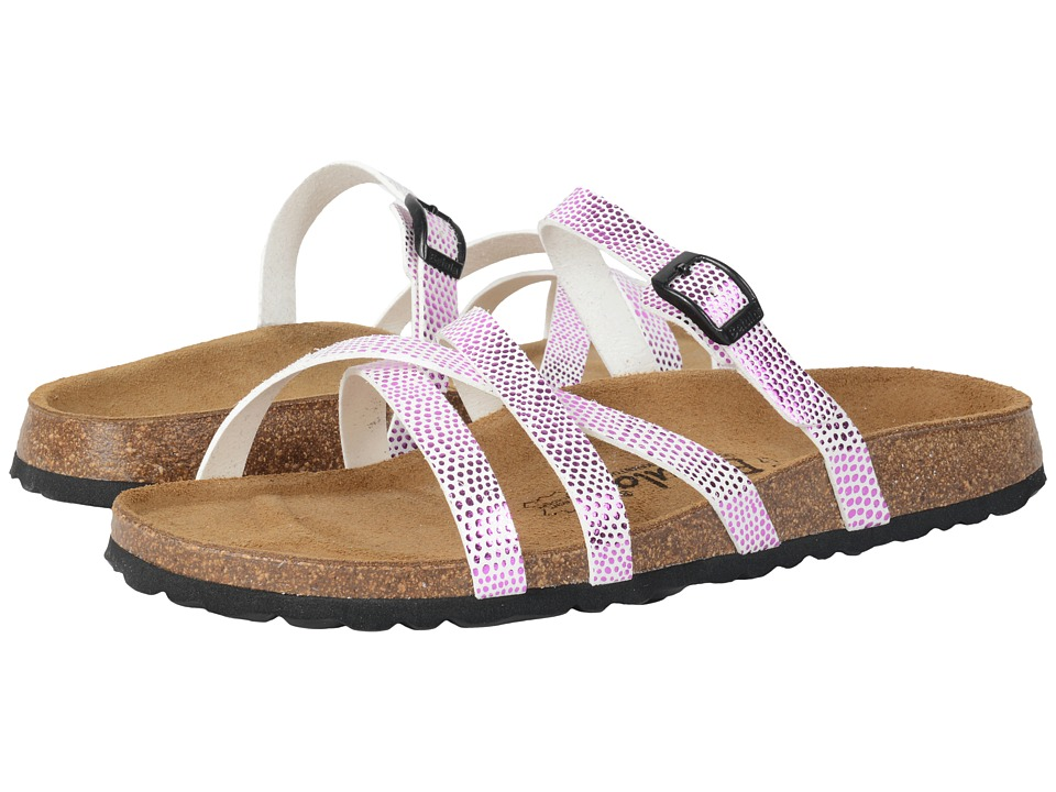 Image of Betula Licensed by Birkenstock - Cross Strap Birko-Flor (White/Pink) Women's Shoes