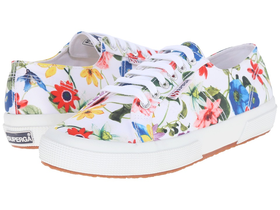 Superga - 2750 Fanrasow (White Multi) Women's Lace up casual Shoes
