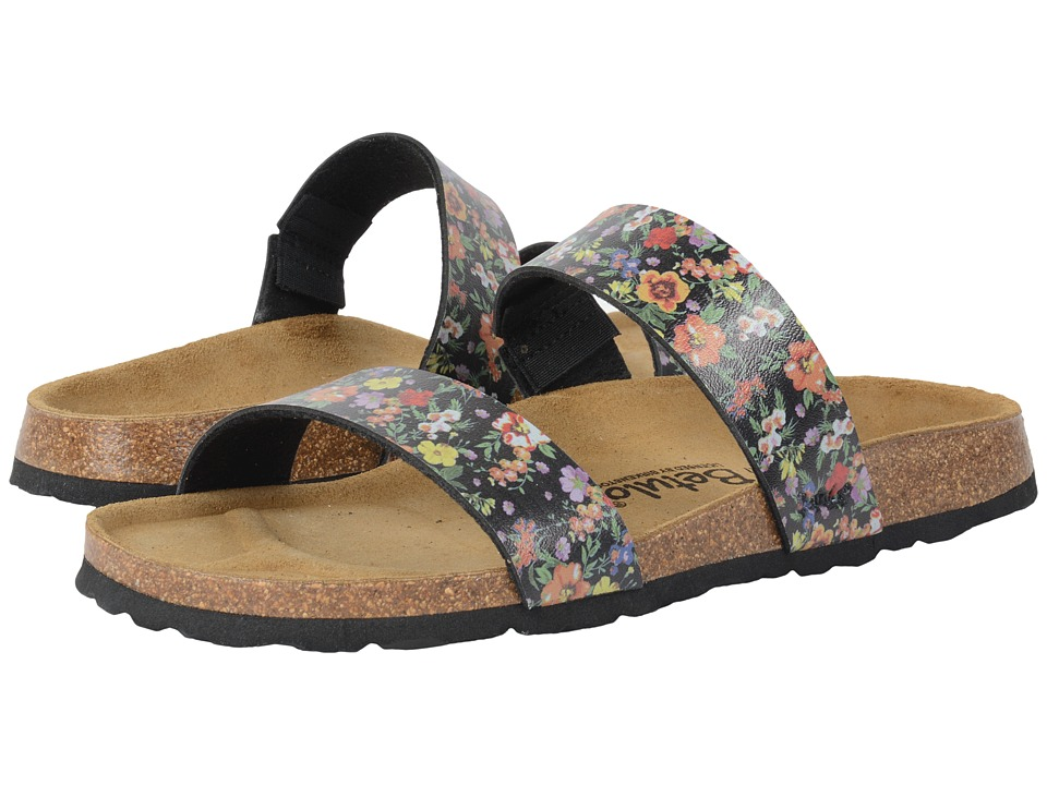Image of Betula Licensed by Birkenstock - Quito Birko-Flor (Black Flowers) Women's Shoes