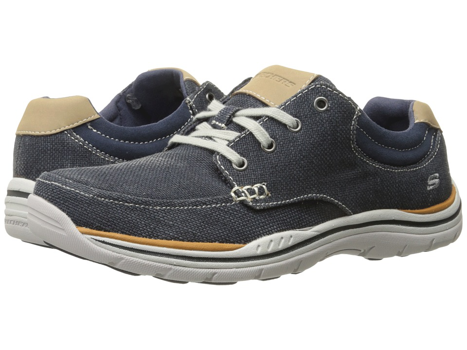 SKECHERS - Relaxed Fit Expected - Orman (Navy Canvas) Men's Lace up casual Shoes