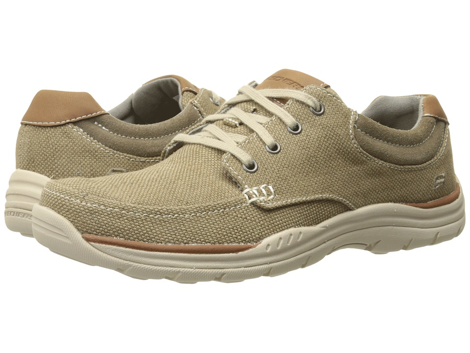 SKECHERS Relaxed Fit Expected Orman (Khaki Canvas) Men