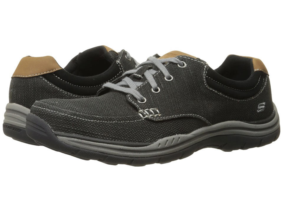 SKECHERS - Relaxed Fit Expected - Orman (Black Canvas) Men's Lace up casual Shoes