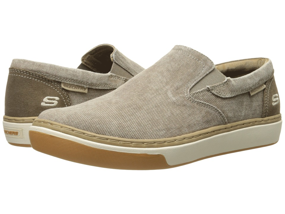 SKECHERS - Relaxed Fit Palen - Tiago (Taupe Canvas) Men's Slip on Shoes