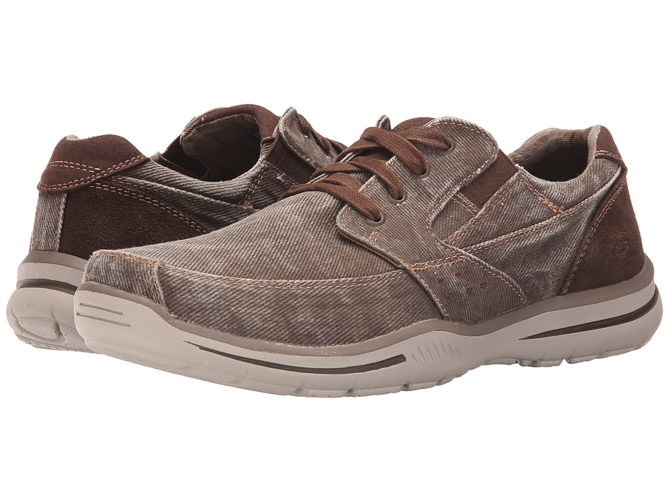 SKECHERS Relaxed Fit Elected Fultone (Cocoa Canvas) Men