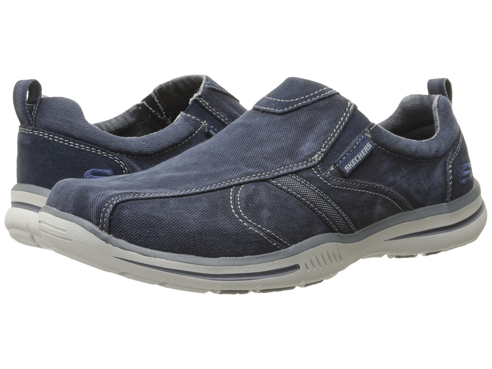 SKECHERS - Relaxed Fit Elected - Payson (Navy Canvas) Men's Shoes