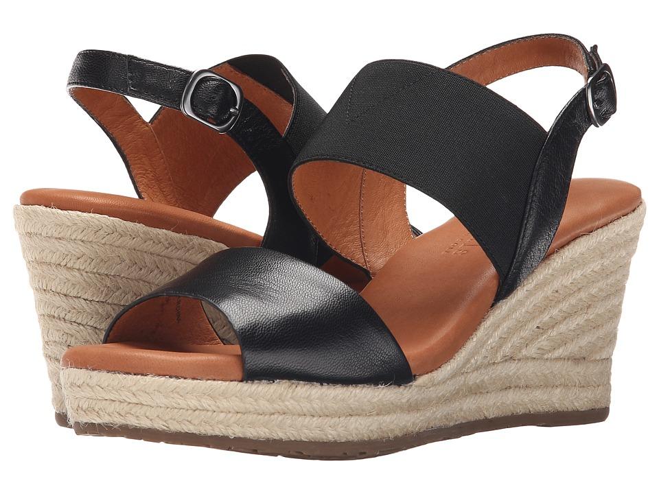 Gentle Souls - Kara (Black Leather) Women's Wedge Shoes