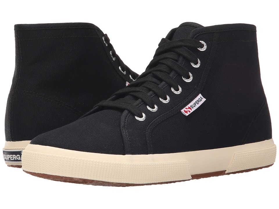 Superga 2095 COTU (Black/Off-White) Lace up casual Shoes