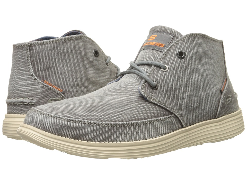 SKECHERS - Relaxed Fit Status - Altone (Charcoal Washed Canvas) Men