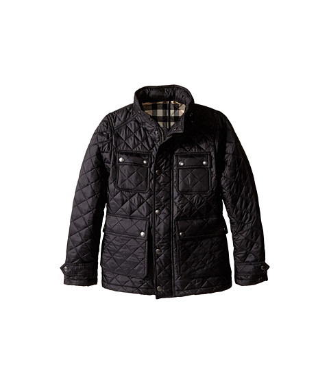 Burberry Kids - Halesworth Jacket (Little Kids/Big Kids) (Black) Boy