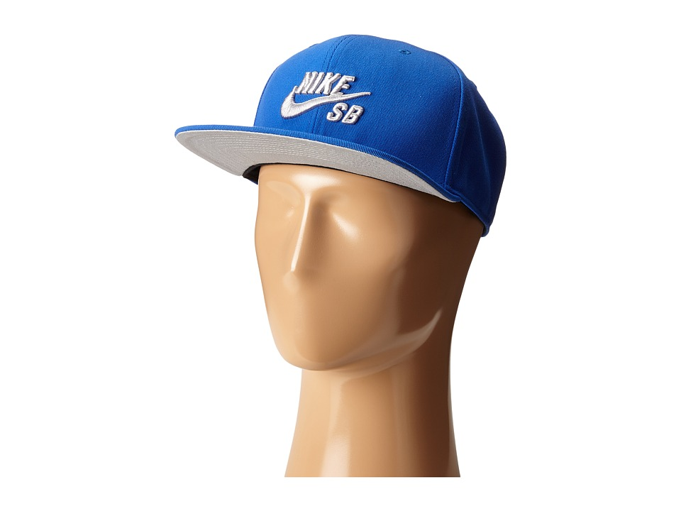 Nike SB - Icon Snapback (Game Royal/Wolf Grey/Black/Wolf Grey) Caps