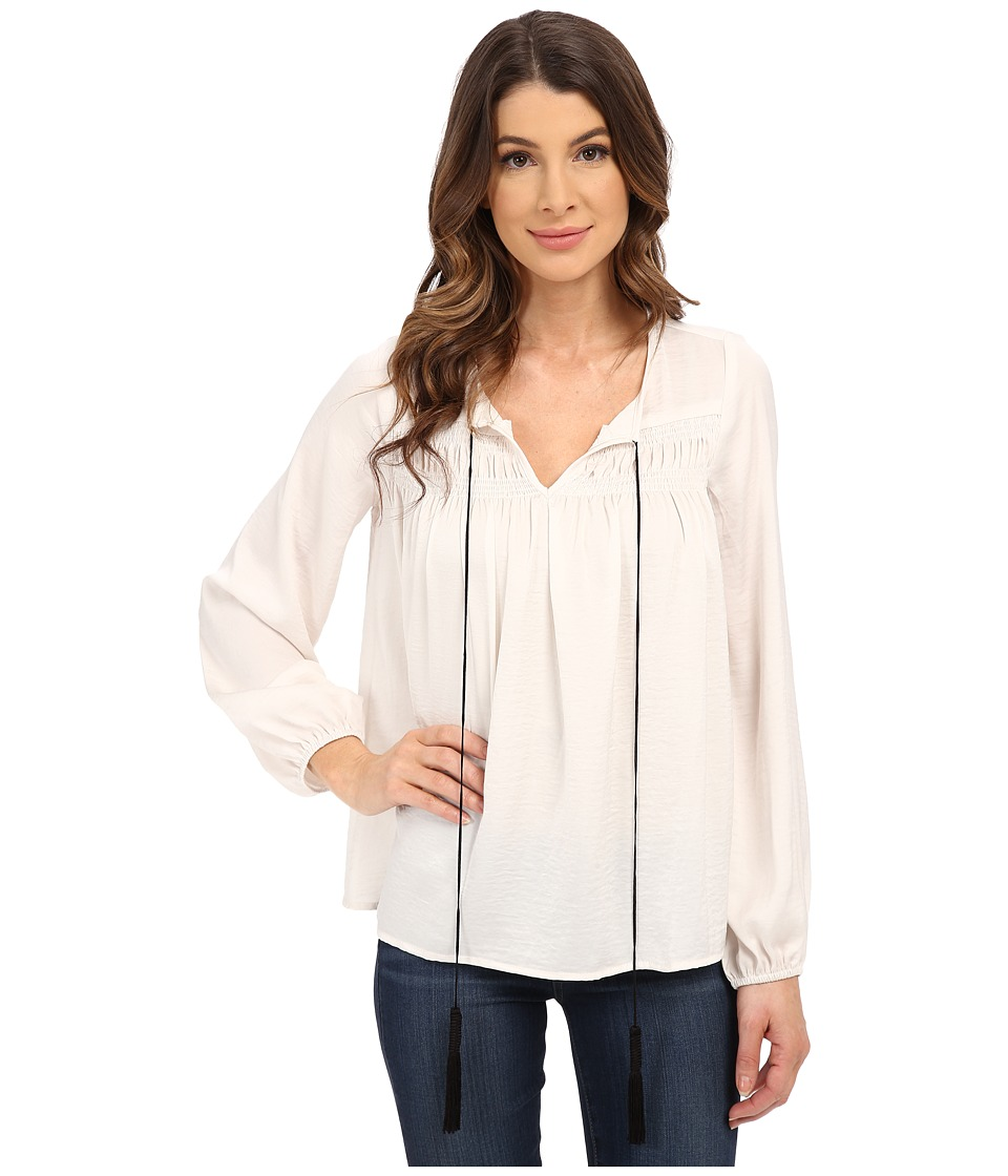 B Collection by Bobeau - Peasant Blouse (Natural) Women's Blouse