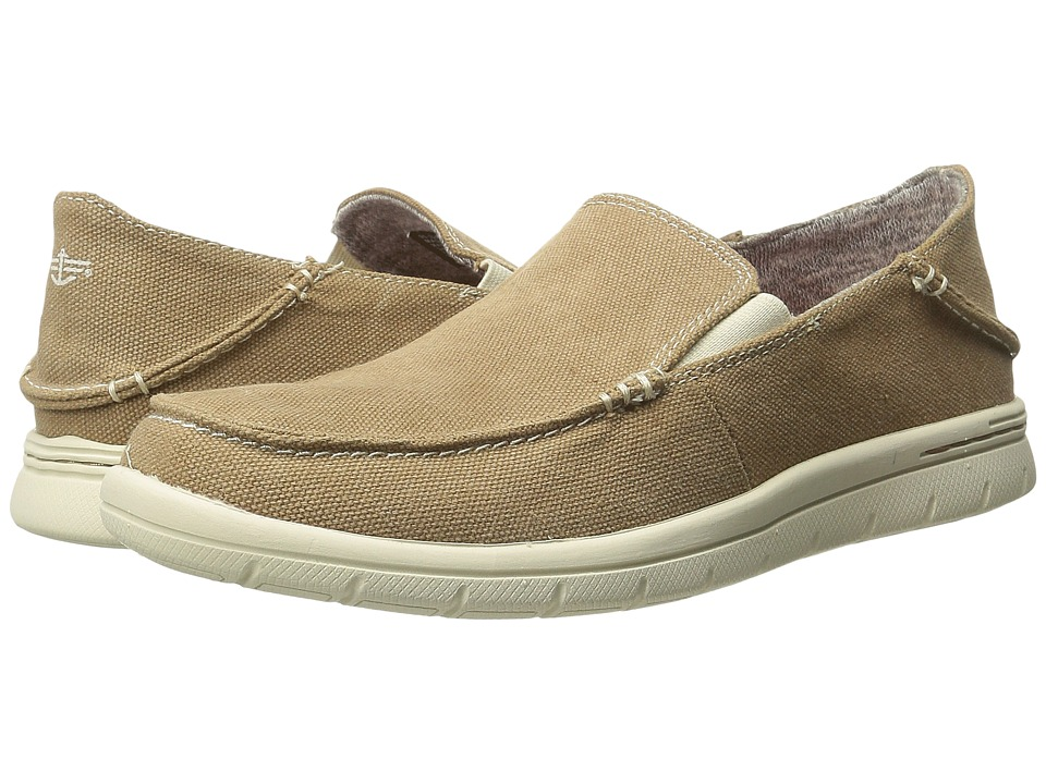 Dockers - Ravello (Tan Washed Canvas) Men's Slip on Shoes