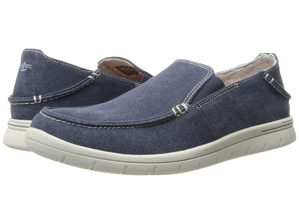 Dockers - Ravello (Navy Washed Canvas) Men's Slip on Shoes