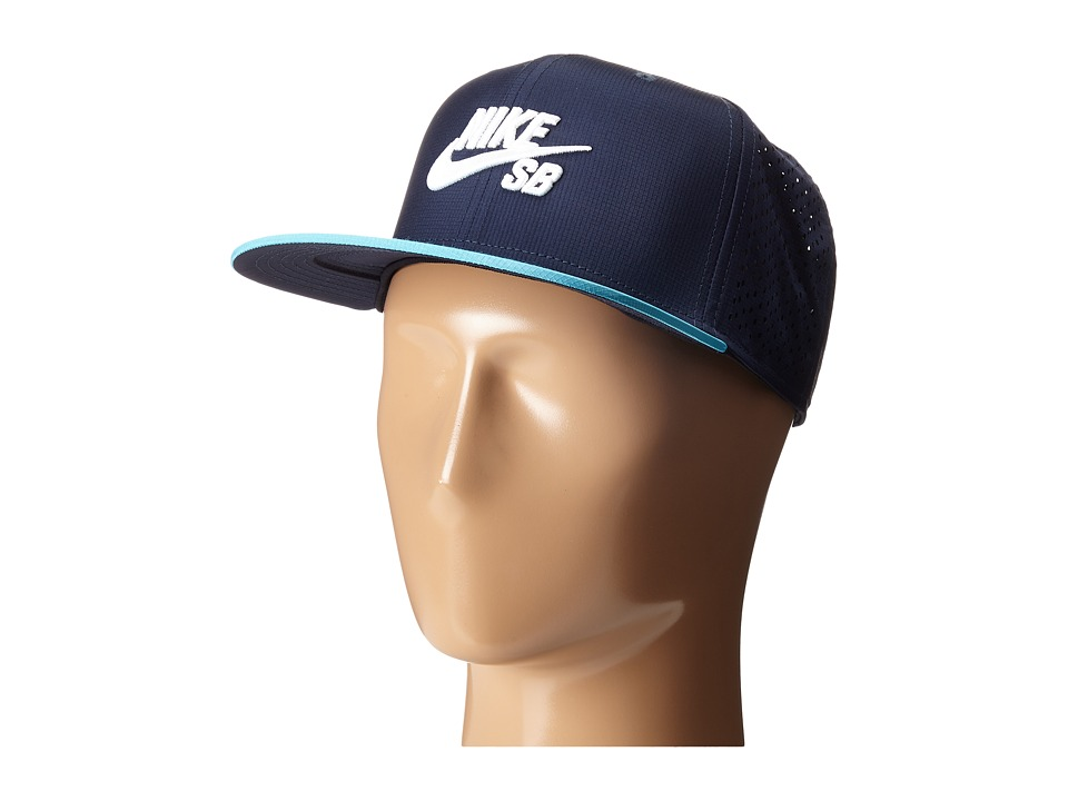 Nike SB - Performance Trucker Hat (Obsidian/Omega Blue/Black/White) Caps