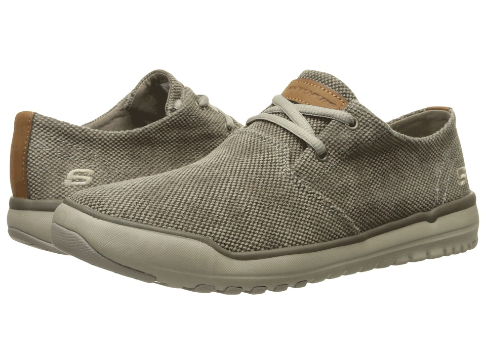 SKECHERS - Relaxed Fit Oldis - Stound (Taupe Canvas) Men's Lace up casual Shoes