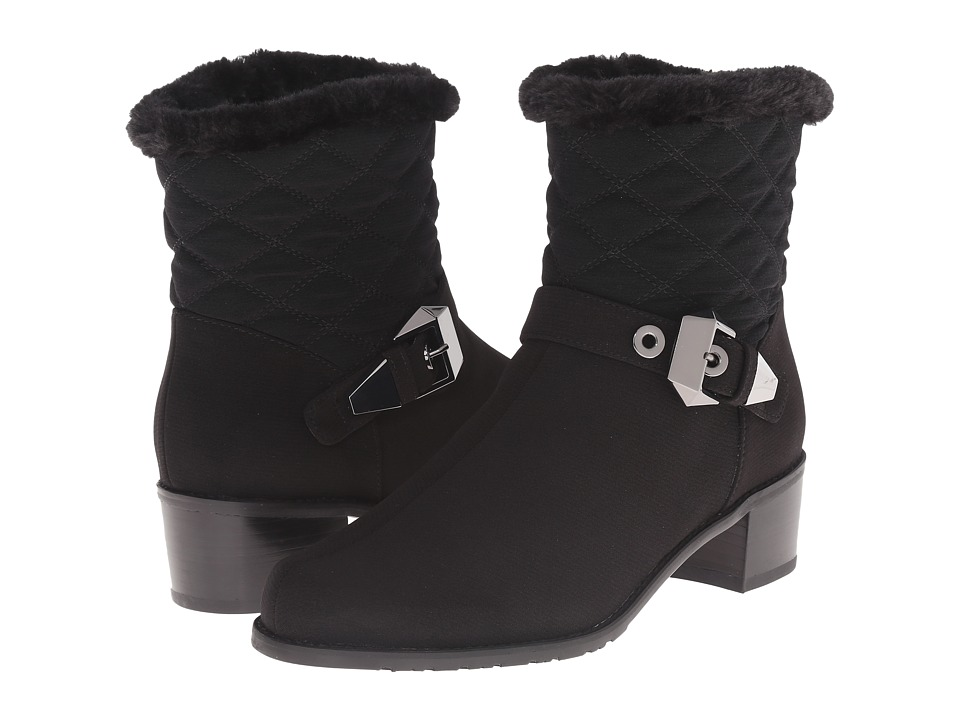 Stuart Weitzman Furgorby (Black Acquatex) Women