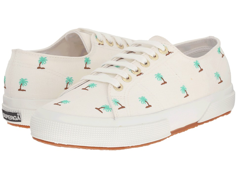 Superga - 2750 Linembrw By Jennifer Meyer (White/Turquoise) Women