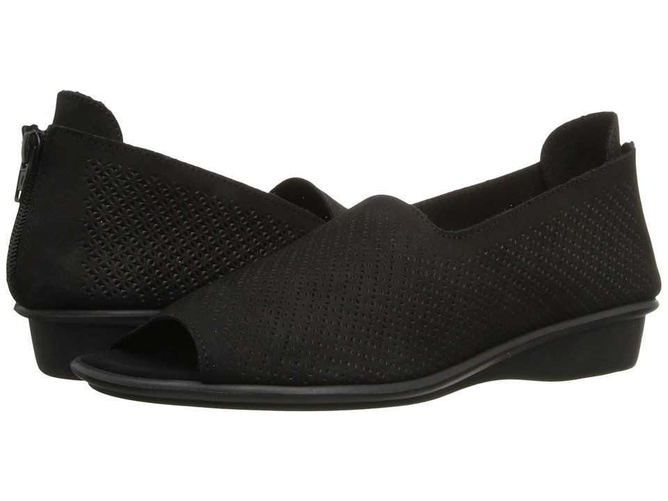 Sesto Meucci - Eulah (Black Nabuk) Women's Toe Open Shoes