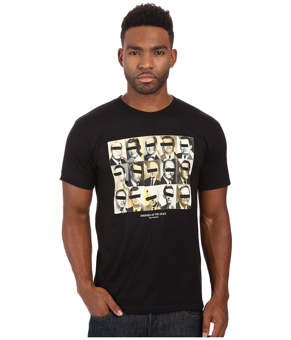 Obey - Premium Enemies Of The State Tee (Black) Men's T Shirt