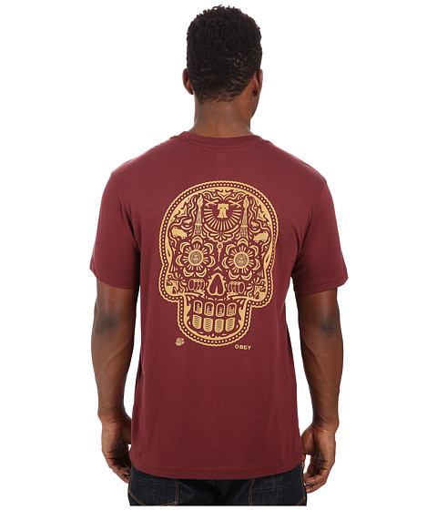 Obey - Premium Power Glory Tee (Burgundy) Men