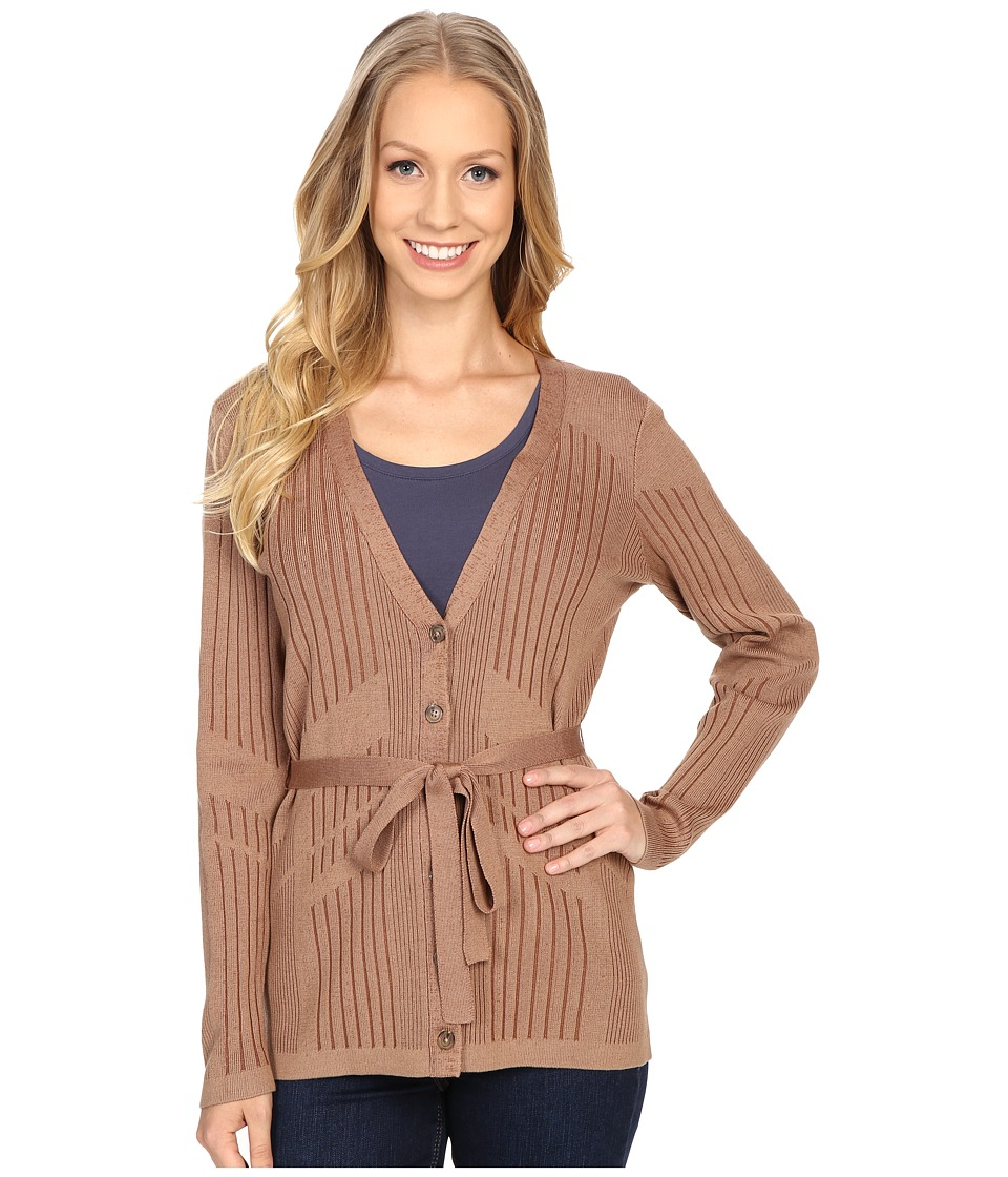 Pendleton - Tonal Tides Cardigan (Sandy Brown/Aztec) Women's Sweater