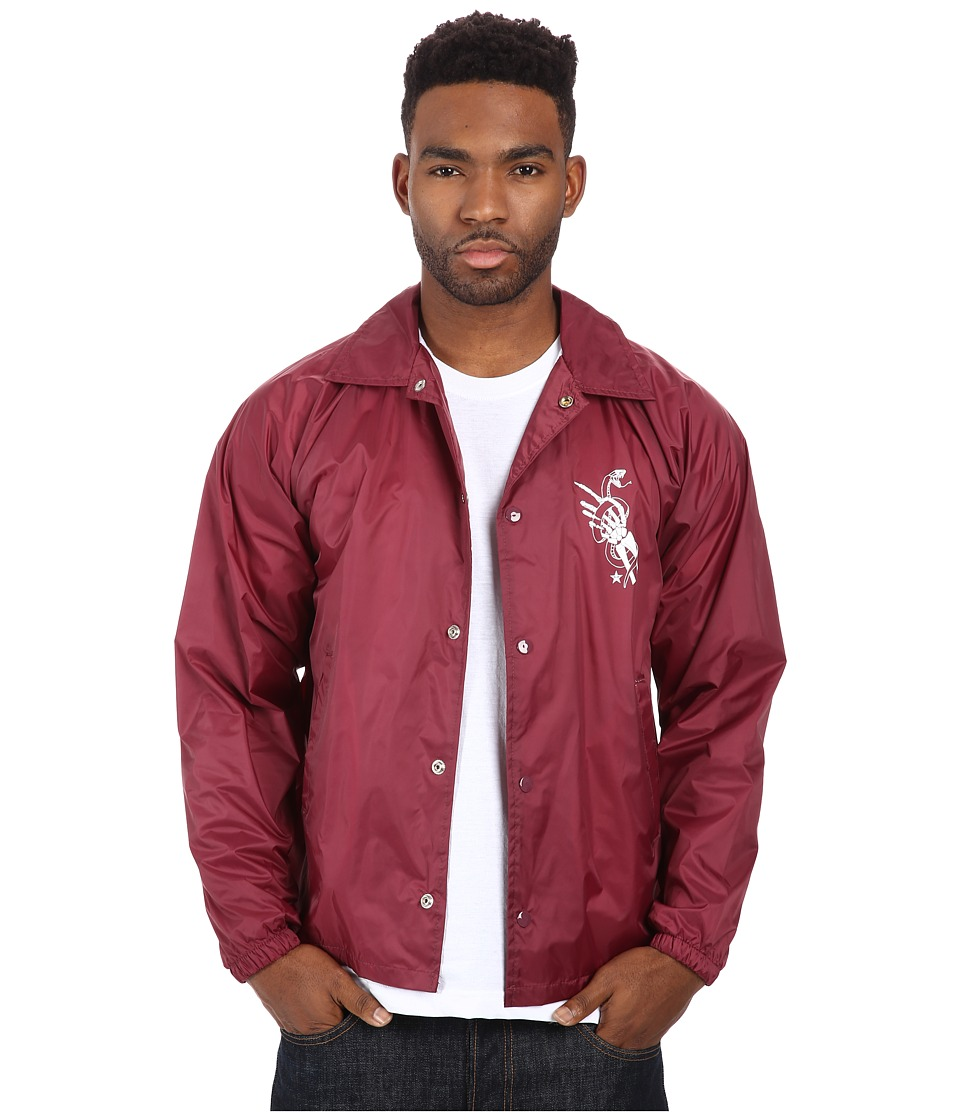 Obey - Original Sins Coach's Jacket (Maroon) Men's Coat