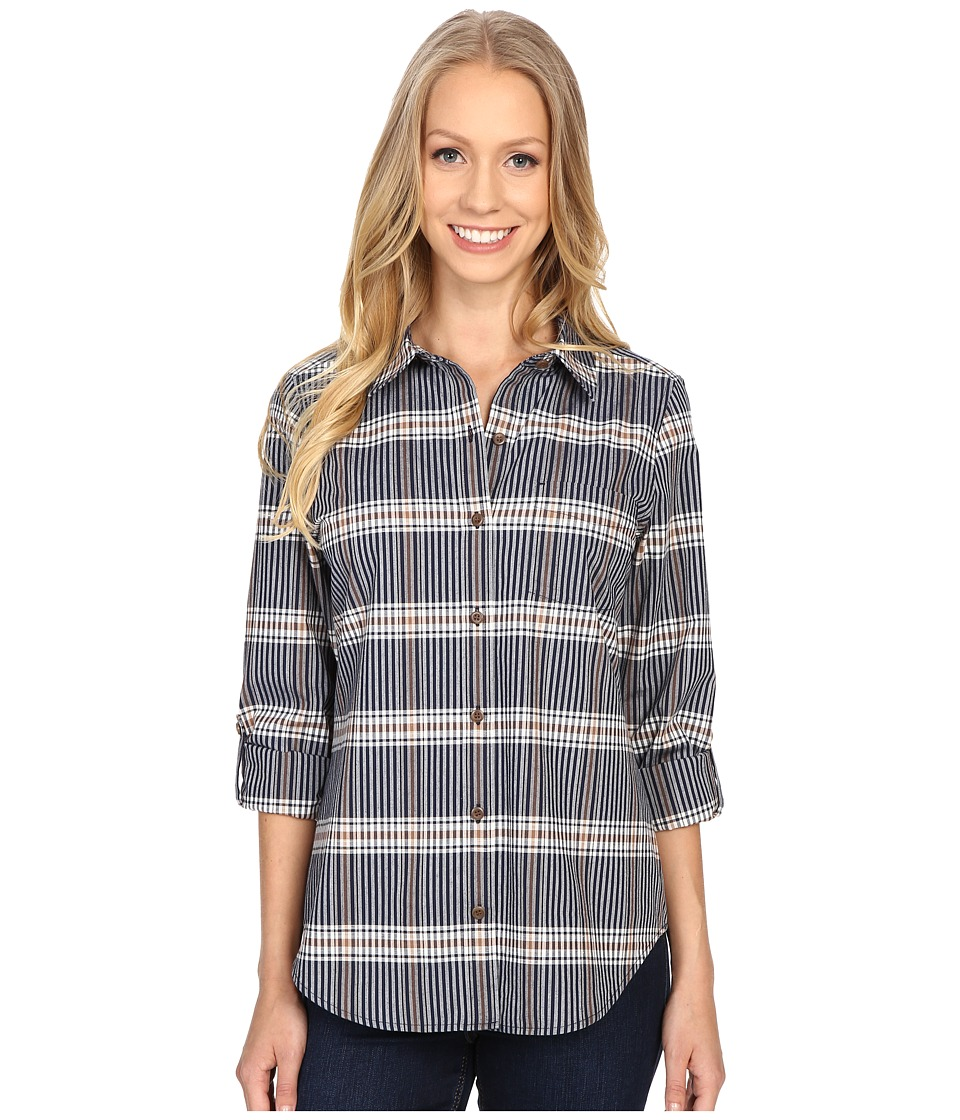 Pendleton - Riley Shirt (Navy Plaid) Women's Long Sleeve Button Up