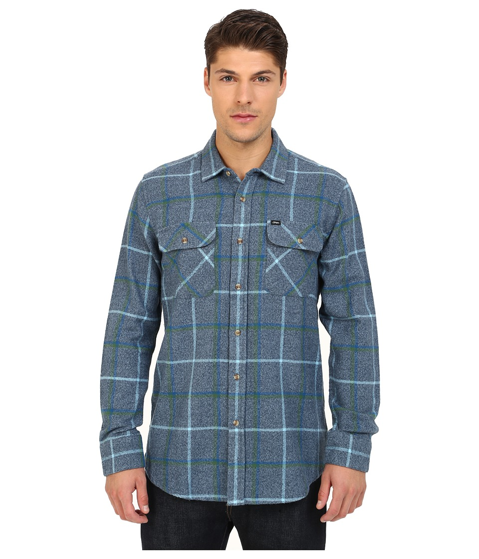 Obey - Peak Woven Top (Blue Multi) Men's Long Sleeve Button Up