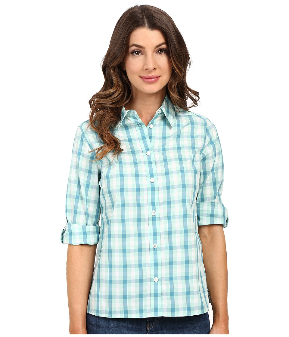 Pendleton - Josie Shirt (Ocean Wave/Larkspur/White Check) Women's Long Sleeve Button Up
