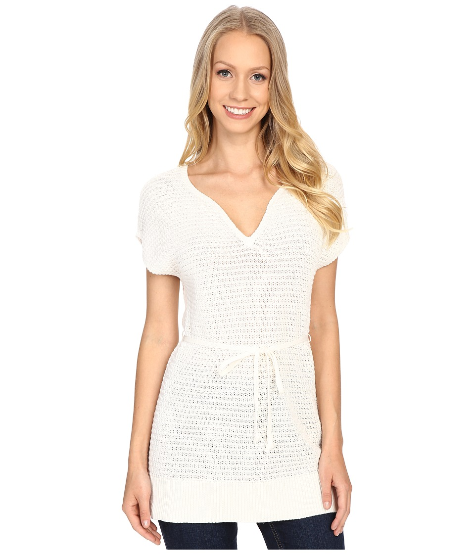 Pendleton - Belted Tunic (Ivory) Women's Short Sleeve Pullover