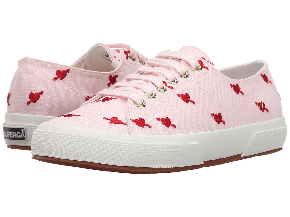 Superga - 2750 Linembrw By Jennifer Meyer (Pink/Red) Women's Lace up casual Shoes