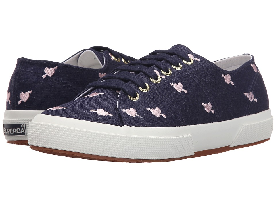 Superga - 2750 Linembrw By Jennifer Meyer (Navy/Pink) Women