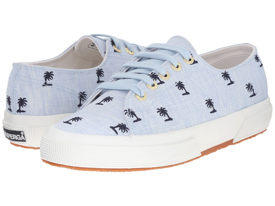 Superga - 2750 Linembrw By Jennifer Meyer (Light Blue/Intense Blue) Women's Lace up casual Shoes