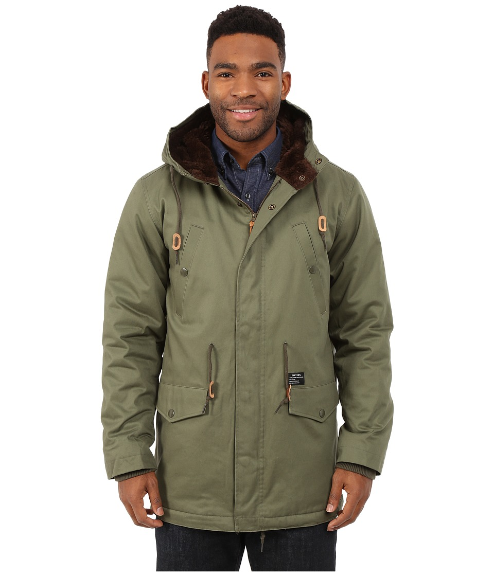 Obey - Ransack Parka Jacket (Light Army) Men's Coat