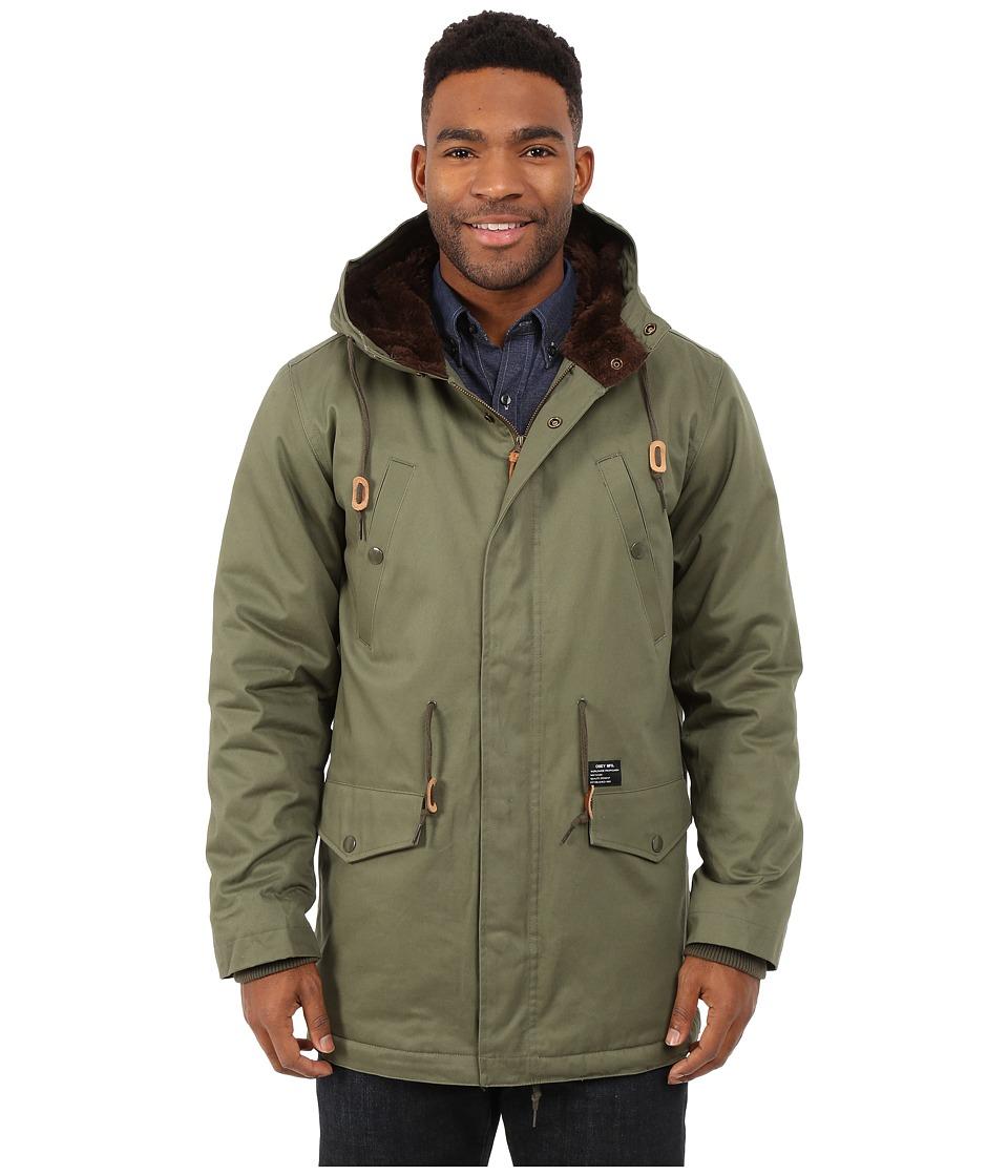 Obey - Ransack Parka Jacket (Light Army) Men's Coat